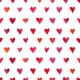 Akwareli serc wzór Fotografia Stock