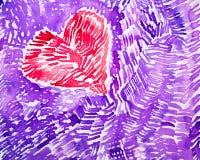 Akwareli serce 1 Zdjęcie Royalty Free