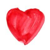 Akwareli serce Pojęcie kartka z pozdrowieniami Zdjęcie Royalty Free