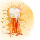 Akwareli szkło piwo - ilustracja royalty ilustracja