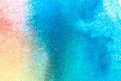 Akwareli sztuki ręki farba na białym akwareli tekstury tle fotografia royalty free