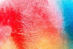 Akwareli sztuki ręki farba na białym akwareli tekstury tle obraz royalty free
