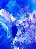 Akwareli sztuki tła abstrakcjonistyczna kolorowa textured śnieżna zima Obrazy Royalty Free