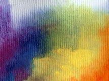 Akwareli sztuki tła abstrakcjonistyczna kolorowa textured tęcza Zdjęcia Royalty Free