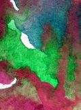 Akwareli sztuki tła abstrakcjonistyczny podwodny światowy denny błękit muska textured mokrego obmycia zamazującą fantazję Obraz Royalty Free