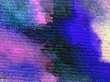 Akwareli sztuki tła abstrakcjonistyczny podwodny światowy denny błękit muska textured mokrego obmycia zamazującą fantazję Zdjęcia Royalty Free