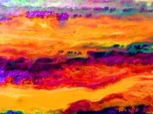 Akwareli sztuki tła abstrakta menchii błękita fiołkowy światło Fotografia Royalty Free
