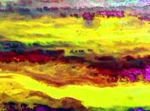Akwareli sztuki tła abstrakta menchii fiołkowa błękitna pomarańcze Obraz Stock