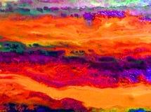 Akwareli sztuki tła abstrakta menchii fiołkowa błękitna pomarańcze Obrazy Stock