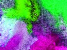 Akwareli sztuki tła denny podwodny światowy kreatywnie świeży textured mokry obmycie zamazywał przelewu chaosu fantazję Zdjęcia Stock