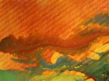 Akwareli sztuki tła fiołka zieleni abstrakcjonistyczne kolorowe textured plamy zaplamiają przelew romantycznego ilustracja wektor