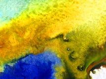 Akwareli sztuki tła wybrzeża mapy oceanu abstrakcjonistycznej podwodnej światowej dennej błękitnej fiołkowej rośliny plenerowy ko ilustracja wektor