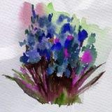 Akwareli tła kwiatów abstrakcjonistycznego kwiecistego bukieta dekoraci ręki przelewu kleksa jaskrawa zamazana textured piękna ta Zdjęcia Royalty Free