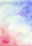 Akwareli tło z purpurami i menchiami bryzga i plamy royalty ilustracja
