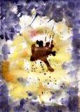 Akwareli tło przypomina kwiatów Pansies Fotografia Royalty Free