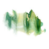 Akwareli uderzeń zieleni farby uderzenia tekstury kolor z przestrzenią dla twój swój tekst sztuki Zdjęcia Stock