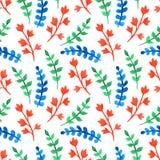 Akwareli varicolored sprigs Zdjęcia Stock
