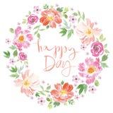 Akwareli wiosny kwiaty Zdjęcia Royalty Free