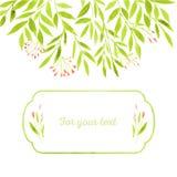 Akwareli wiosny liście royalty ilustracja