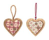 Akwareli wiszący serca, ornamenty odizolowywający na białym tle ilustracji