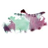 Akwareli zieleni purpurowi uderzenia malują uderzenie tekstury kolor z przestrzenią dla twój swój tekst sztuki Fotografia Royalty Free