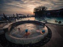 Akwaria są Termicznym zdroju centrum Terme Di Sirmione Unikalny obrazy royalty free