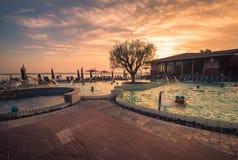 Akwaria są Termicznym zdroju centrum Terme Di Sirmione Unikalny fotografia royalty free