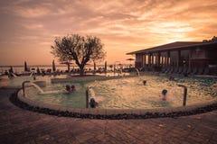Akwaria są Termicznym zdroju centrum Terme Di Sirmione Unikalny zdjęcia stock