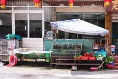 Akwarium z ryba i warzywa zbliżamy knajpę Zdjęcia Royalty Free