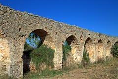Akwedukt, część Neokastro forteca, Grecja Zdjęcie Royalty Free