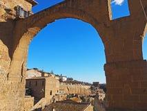 Akwedukt Pitigliano, Włochy Fotografia Royalty Free