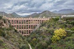 Akwedukt Puente Del Aguila, Nerja, Hiszpania Zdjęcia Stock