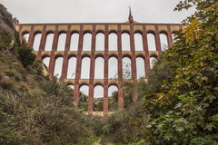 Akwedukt Puente Del Aguila, Nerja, Hiszpania Zdjęcia Royalty Free