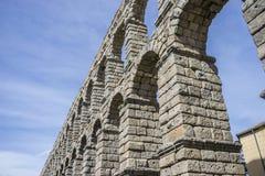 akwedukt rzymski Segovia architektoniczny zabytek oznajmiający patri zdjęcie stock