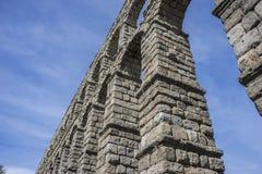 akwedukt rzymski Segovia architektoniczny zabytek oznajmiający patri zdjęcia royalty free