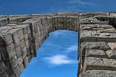 Akwedukt Segovia Hiszpania Obraz Royalty Free