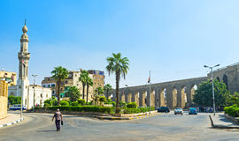 Akwedukt w starym Kair Obraz Royalty Free