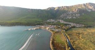Akyaka Aerial Landscape and Cityscape, Turkey stock video