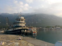 Akyaka, Mugla, Turkey. Akyaka liman sabah Royalty Free Stock Photo