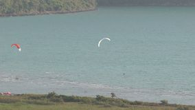 Akyaka Turkey. Kite Board Close Up stock video footage