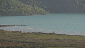 Akyaka Turkey. Kite Board Close Up stock video