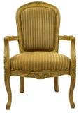 Akzent-Stuhl im Goldende lizenzfreie stockbilder