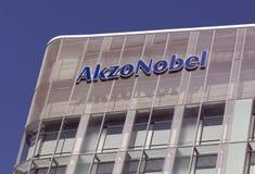 Akzo Nobel byggnad i Amsterdam Arkivbilder