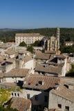 Alès, France : Image avec la ville vue de ci-avant Images libres de droits
