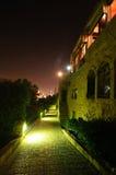 Aléia de Jaffa da noite Imagem de Stock Royalty Free