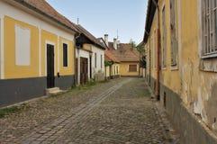 Aléia européia típica em Szentendre Hungria Fotografia de Stock