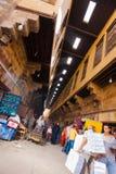 Al义卖市场开罗khiamiyya帐蓬制造人被掀动 免版税库存图片