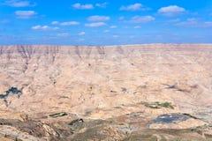 Al乔丹mujib河谷旱谷 免版税库存图片