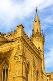 Al侯赛因清真寺的尖塔在开罗 库存照片