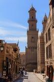 Al侯赛因清真寺,开罗在埃及 免版税库存照片
